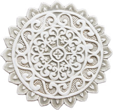 mandala ceramic wall art #1/R - beige [29cm]