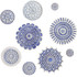 Wall decoration Moroccan circle designs blue & white