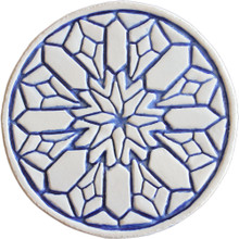 moroccan wall art #2 - blue [15cm]