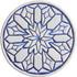 Moroccan circle wall art#2 blue
