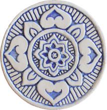 mandala wall art #1 blue [15cm]