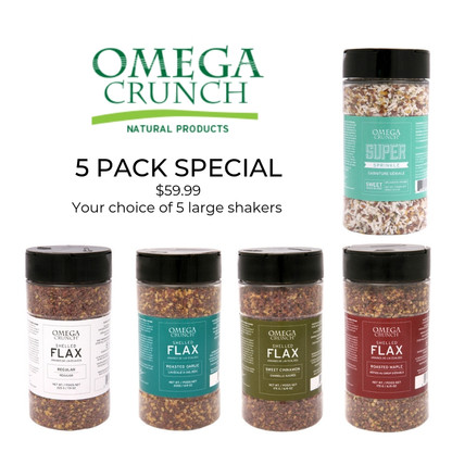 5 Pack Shaker Special
