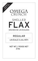 Regular shelled flaxseed label