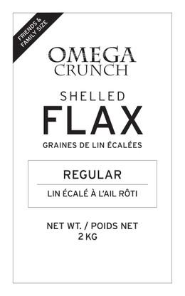 Regular shelled flaxseed label