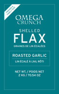 Roasted Garlic shelled flaxseed label
