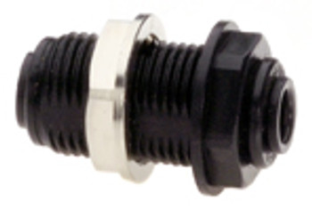 "Quick-connect bulkhead connector (up to 1/2"" bulkheads only)"