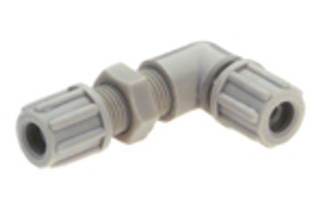 Bent bulkhead connector 4 x 6mm