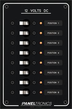Paneltronics 9992204 DC 8 Position Circuit Breaker Marine Panel