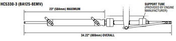SeaStar HC5330-3 Sterndrive BA125-8EMV Hydraulic Steering Cylinder