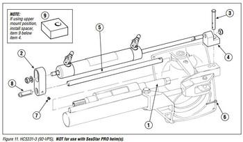 SeaStar HC5331-3 Sterndrive 125 8-EM I/O 92 VPS Hydraulic Steering Cylinder