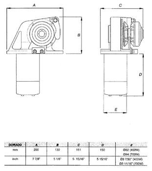 LW280A Dimensional Drawing