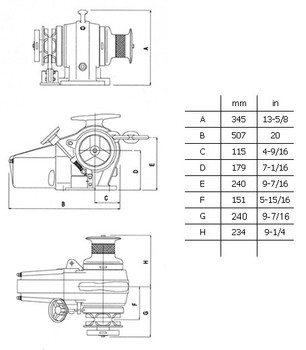 Falkon LW500AN Dimensional Drawing