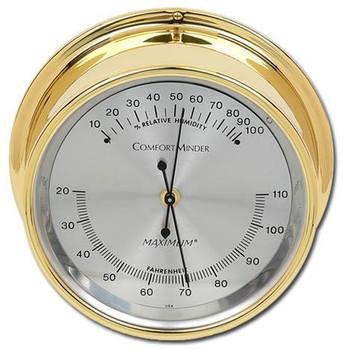 ComfortMinder – Brass case, Silver dial