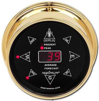 Merlin – Brass case, Black dial