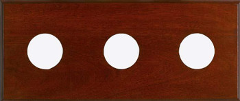 3-Instrument Mahogany Panel