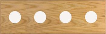 4-Instrument Oak Panel