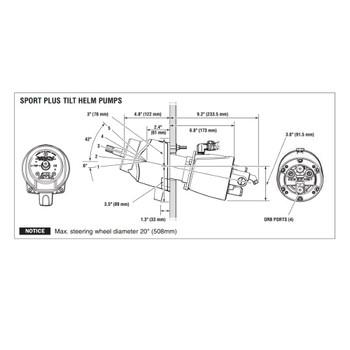 SeaStar HH6445-3 Sport Tilt Plus 2.0 Hydraulic Boat Helm Pump
