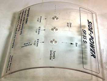 SM68881 Templates for Gearleg holes in 185mm tunnel - SE60