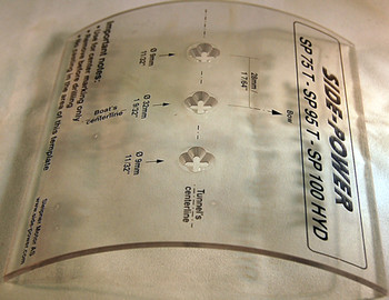 SM68882 Templates for Gearleg holes in 185mm tunnel - SE80 SE100