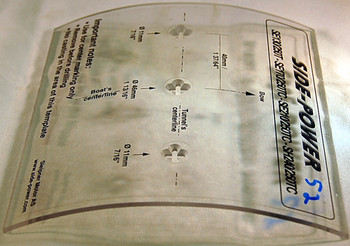 SM68883 Templates for Gearleg holes in 215/250mm tunnel - SE120-210/SH240