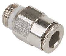Straight Fitting, SS, 6mm OD x 1/8 BSPP/NPT