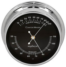 ComfortMinder – Chrome case, Black dial
