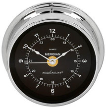 Meridian – Chrome case, Black dial