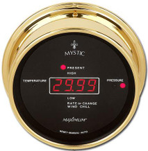 Wireless Mystic – Brass case, Black dial