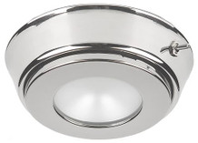 Hatteras PowerLED w/Base & Switch, Stainless Steel, Red