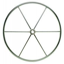 "20"" Twenty Inch 6 Spoke Sailboat Steering Wheel 5322090 - 1"" One Inch Straight Shaft - 3/8"" Three Eighth Inch Spoke Size - FLAT Degree Of Dish"