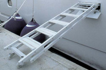 "Retractable Side Ladder ""SI403"", 5-Step Version"