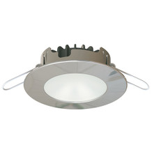 Warm White/Blue 10-40VDC 4.7W - Polished Stainless Steel Trim Ring- Boat Downlight ILIM60401