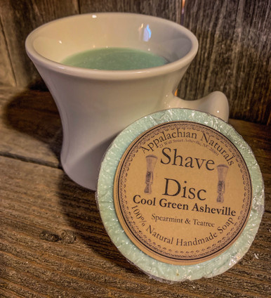 Natural Soap Shave Disc Cool Green Asheville