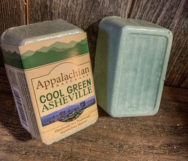 Cool Green Asheville Appalachian Natural Soap