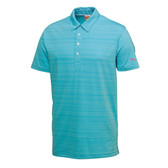 MENS PUMA GOLF BARCODE POLO BLUE ATOLL