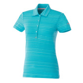 WOMENS PUMA GOLF BARCODE POLO BLUE ATOLL