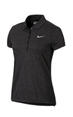 Nike Precision Heather Polo Black/Metallic Silver