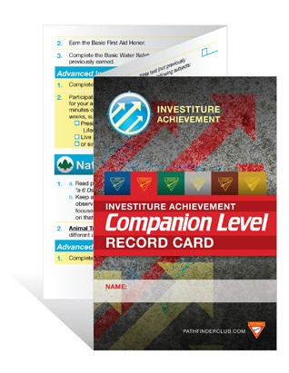 Investiture Achievement Companion Record Card - AdventNorth Canada