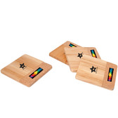 BAMBOO/CORK COASTER SET