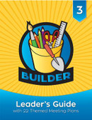 Welcome to the exciting world of Builders!  The Builder Leader's Guide is packed with resources to help you teach third graders Christian principles and life skills while engaging them in fun, creative play. In this step-by-step guide, you'll find helpful answers to the questions:  Who are Builders? Why do Builders act the way they do? How should leaders prepare for success and safety? How can I include Builders with disabilities? What is included in the Builder program? This leader's guide also includes complete instructions for 22 themed meetings that fulfill all Builder program and award requirements. Each meeting includes a list of materials and resources, along with crafts, games, songs, and educational activities that support the theme.