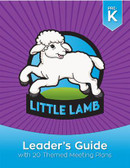 Welcome to the exciting world of Little Lambs!  The Little Lamb Leader's Guide is packed with resources to help you teach pre-kindergarteners Christian principles and life skills while engaging them in fun, creative play. In this step-by-step guide, you'll find helpful answers to the questions:  Who are Little Lambs? Why do Little Lambs act the way they do? How should leaders prepare for success and safety? How can I include Little Lambs with disabilities? What is included in the Little Lamb program? This leader's guide also includes complete instructions for 20 themed meetings that fulfill all Little Lamb program and star requirements. Each meeting includes a list of materials and resources, along with crafts, games, songs, and educational activities that support the theme.