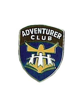 "The Adventurer logo pin (.5"")."