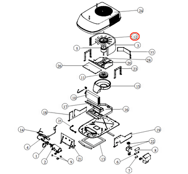Coleman Air Conditioner Condenser Fan 1472-5021 (Click for compatibility)