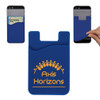 Custom Printed Cell Phone Credit Card Holder - Blue