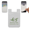 Custom Printed Cell Phone Credit Card Holder - White