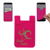 Custom Printed Cell Phone Credit Card Holder - Pink