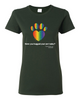 Have You Hugged Your Pet, Multi - Ladies T-Shirt - Forest Green