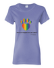 Have You Hugged Your Pet, Multi - Ladies T-Shirt - Violet