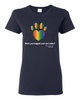 Have You Hugged Your Pet, Multi - Ladies T-Shirt - Navy