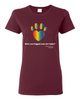 Have You Hugged Your Pet, Multi - Ladies T-Shirt - Maroon